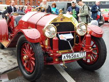 Rally of oldtimers Bosch Moskau Klassik 2014, Moscow. June 14, 2014. Stock Photography