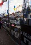 Rally opponents of Yulia Tymoshenko in Kiev Royalty Free Stock Photos