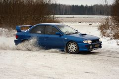 Rally. Of poland subaru impreza royalty free stock images