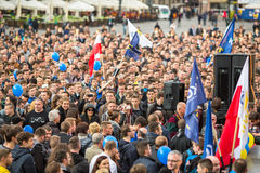 During the rally of the presidential candidate of Poland - Janusz Korwin-Mikke Royalty Free Stock Image