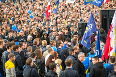 During the rally of the presidential candidate of Poland - Janusz Korwin-Mikke Stock Images
