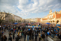During the rally of the presidential candidate of Poland - Janusz Korwin-Mikke Stock Photography