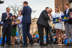 During the rally of the presidential candidate of Poland - Janusz Korwin-Mikke Royalty Free Stock Photography