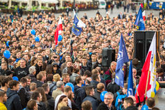 During the rally of the presidential candidate of Poland - Janusz Korwin-Mikke Royalty Free Stock Photos