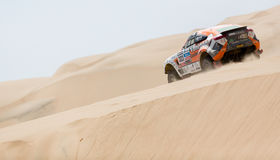 Rally racing in Dakar 2013 Royalty Free Stock Photos