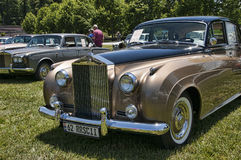 Rally of Rolls Royce and other luxury automobiles in Asheville North Carolina USA. Biltmore Estate is a large private estate and tourist attraction in Asheville royalty free stock photo
