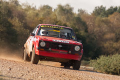 Rally safety car Royalty Free Stock Photo