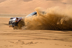 Rally Sand Racer. Racing car taking part in the UAE Desert Challenge 2007 Stock Image