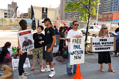 Rally for Sea Shepherd Paul Watson in Toronto Stock Photo