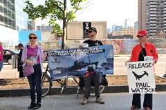 Rally for Sea Shepherd Paul Watson in Toronto Royalty Free Stock Photo