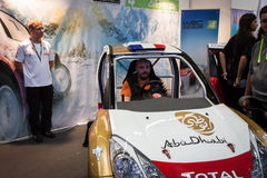 Rally simulator at Games Week 2013 in Milan, Italy Stock Image