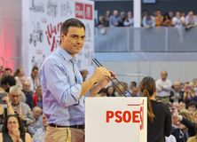 Rally of the Spanish Socialist Workers' Party (PSOE) Stock Photography