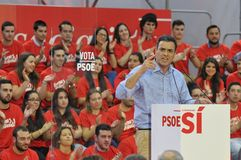 Rally of the Spanish Socialist Workers' Party (PSOE) Stock Photo