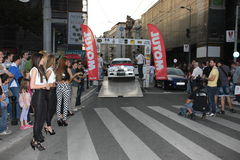 Rally. Start of the Fourth Belgrade Rally, 27th-28th of April 2013 Stock Photography