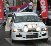 Rally. Start of the Fourth Belgrade Rally, 27th-28th of April 2013 Stock Photos