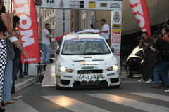 Rally. Start of the Fourth Belgrade Rally, 27th-28th of April 2013 Royalty Free Stock Image