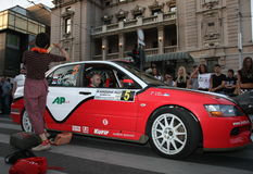 Rally. Start of the Fourth Belgrade Rally, 27th-28th of April 2013 Stock Image