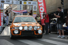 Rally. Start of the Fourth Belgrade Rally, 27th-28th of April 2013 Royalty Free Stock Photo