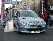 Rally. Start of the Fourth Belgrade Rally, 27th-28th of April 2013 Stock Photo