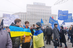 Rally in support of European integration. Ukraine Royalty Free Stock Photography