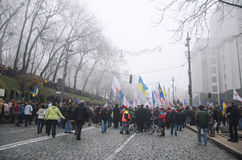 Rally in support of European integration. Ukraine Stock Photography