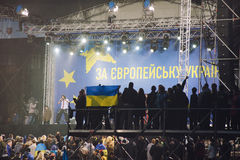 Rally in support of European integration. Ukraine Stock Images