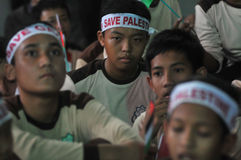 Rally supporting Palestine  in Indonesia Royalty Free Stock Photography