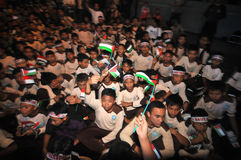 Rally supporting Palestine  in Indonesia Stock Image