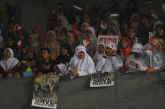 Rally supporting Palestine  in Indonesia Royalty Free Stock Images