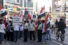 Rally for Syrian Freedom in Toronto Stock Photography