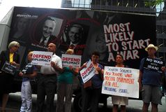 Rally targets Chuck Schumer for opposing Obama's Iran deal Stock Photography