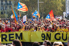 Rally in 300th anniversary of  loss of independence of Catalonia Stock Photography