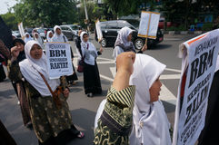 Rally to Againt Indonesian Govement Stock Photo