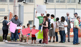 Rally to Secure Our Borders counter protestors gat Royalty Free Stock Photography