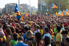 Rally to 300th anniversary of  loss of independence of Catalonia Stock Image