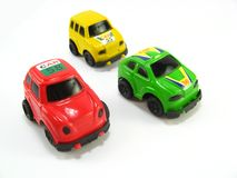 Rally toycars Royalty Free Stock Image