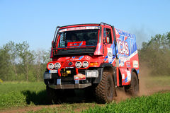 Rally Transorientale 2008. TATARSTAN, RUSSIA - JUNE 15: Giulio Verzeletti's Unimog (No. 429) competes at the rally Transorientale 2008 on June 15, 2008 near town Royalty Free Stock Photo