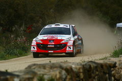 Rally Trofeo Terra 2008 - Sardinia Royalty Free Stock Photography