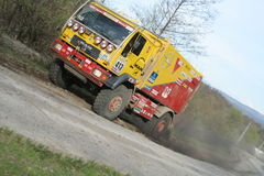 Rally truck Royalty Free Stock Images