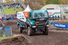Rally truck of Ton van Genugten Stock Image