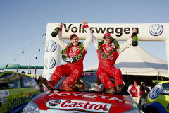Rally winners Royalty Free Stock Images
