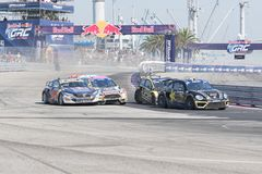 Rallycross drivers competing during the Red Bull GRC Stock Images