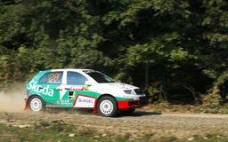 Rallye Auto stockfotos