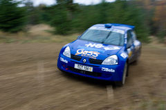 Rallye car Royalty Free Stock Photos