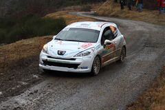 Rallye Monte Carlo 2014 Stockfotografie