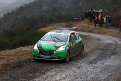 Rallye Monte Carlo 2014 lizenzfreie stockbilder