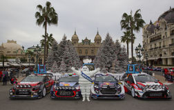 Rallye Monte Carlo Launch at Place du Casino Stock Photography