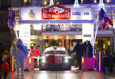 Rallye Monte Carlo Launch at Place du Casino Royalty Free Stock Photos
