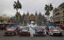 Rallye Monte Carlo Launch at Place du Casino Stock Photo