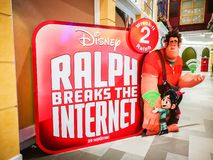Ralph Breaks the Internet movie promo board, is an upcoming American 3D computer-animated comedy film produced by Walt Disney. BANGKOK, THAILAND. – On stock photography